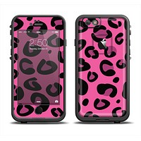 The Pink Vector Cheetah Print Apple iPhone 6 LifeProof Fre Case Skin Set