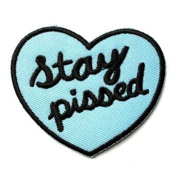 HOME :: Pins & Patches :: PATCHES :: Stay Pissed Patch-Blue