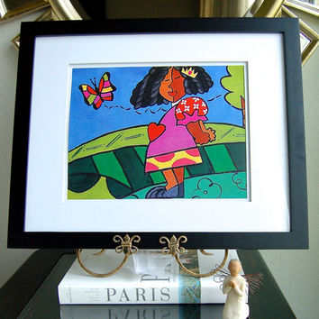 11X14 Meme II framed fine art PRINT based on Original painting by Chanel Christoff Davis