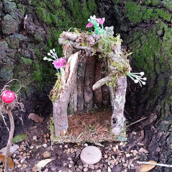 Fairy House, Outdoor Fairy House, Fairy Garden House, Terrarium House, Gnome House, Terrarium Kit, Miniature Fairy House, Fairy Garden Home