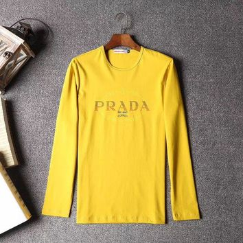 DCCKGSQ prada men or women fashion casual long sleeve top sweater pullover