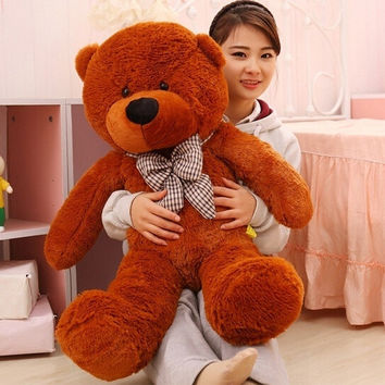 100cm Plush Toy Giant Teddy Bear Light Brown Color 39'' Best Quality PP Cotton = 1929562692