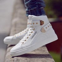 Explosion models 2016 new high-top shoes men's casual everyday casual men's shoes to help men's high fashion shoes