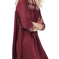 Topshop Cross Stitched Peasant Dress | Nordstrom