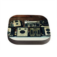 """Robin Dickinson """"Through the Years"""" Vintage Camera Coasters (Set of 4)"""