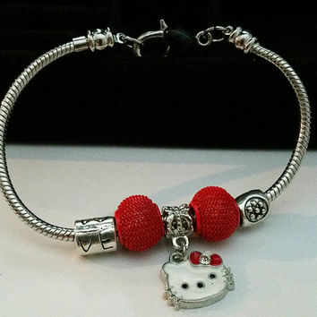 Hello kitty red.