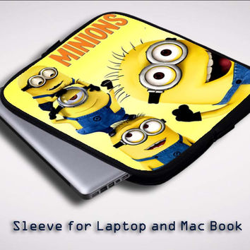 minions Z0425 Sleeve for Laptop, Macbook Pro, Macbook Air (Twin Sides)