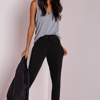 Missguided - Tie Waist Jogger Black