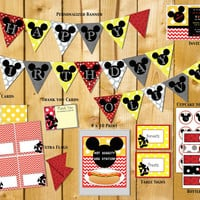 Mickey Mouse Clubhouse-  Elmo- Birthday, Party, Decorations: Banner, Custom, Printable by Little Party that Could