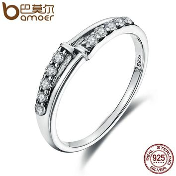 Luxury 925 Sterling Silver Classic Circle AAA Zircon Geometric Finger Rings for Women Wedding Jewelry S925 Gift SCR065