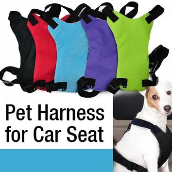 Safety Pet Seat Belt For Car Harness Dog Leash Safety Seatbelt Collar Supplies Products Dog Stuff Pads 3 sizes Free shipping