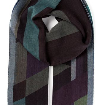 Etro graphic jacquard pattern scarf