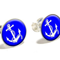 Anchor and Rope - Ship Boat Boating Sailing Earrings
