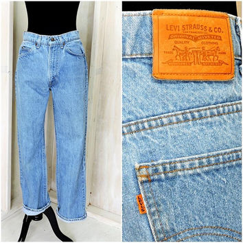 Vintage Levis orange tab 31 X 29 /  LEVI'S  high waisted straight jeans / Levi Strauss boyfriend jeans