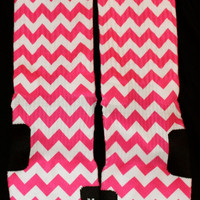 Perfectly Hot Pink Chevron custom Nike Elite Socks