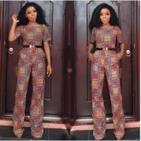 Short Sleeves Retro Jumpsuit