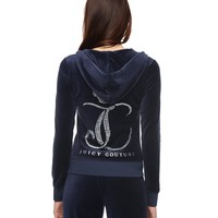 Ornate Monogram Velour Original Jacket by Juicy Couture