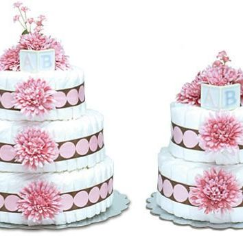 Bloomers Pink Mums with Pink Dot Baby Diaper Cake
