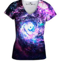 Worm Hole Women's V-Neck Tee