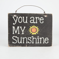 You Are My Sunshine Sign Black Combo One Size For Women 24845214901