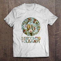 5 Seconds Of Summer Flowers Mens T Shirt 5SOS Music Dope Swag Tour One Direction Birthday Gift Present