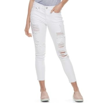 Juniors' Mudd® Destructed Skinny Ankle Jeans | null