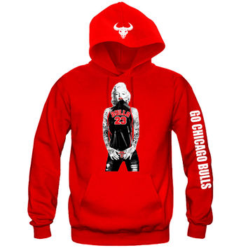 "Marilyn Monroe Chicago Bulls Hoodie ""3 Prints"" Sports Clothing"