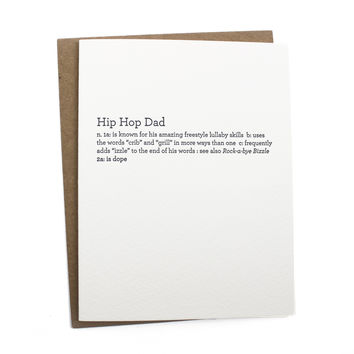 Hip Hop Dad Card