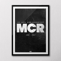 MCR 2001-2013 'So Long and Goodnight' A1 poster (PRICE DROP)