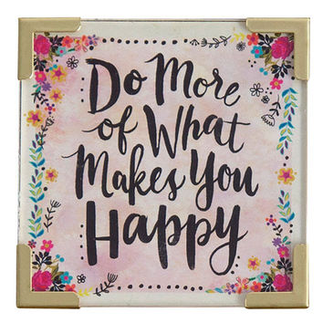 Do More Happy Corner Magnet by Natural Life