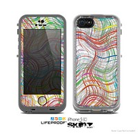 The Abstract Woven Color Pattern Skin for the Apple iPhone 5c LifeProof Case