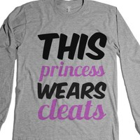 this princess wears cleats girls pink shirt soccer-T-Shirt
