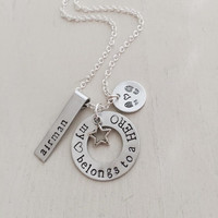 Military Jewelry, Deployment, Air Force, Marines, Army, Navy, Coast Guard, In love with a hero, Combat Boots, Couples Necklace
