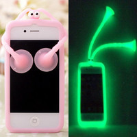 Pink Shiny Cartoon Cricket Soft Hard Cover Case For Iphone 4/4s/5