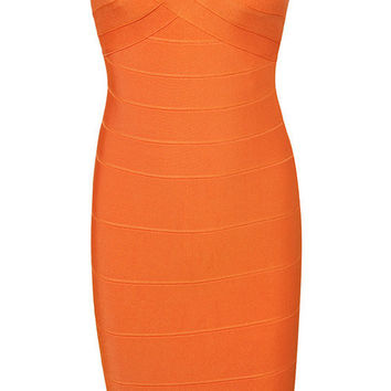 Sexy Tube Solid Color Bandage Dress