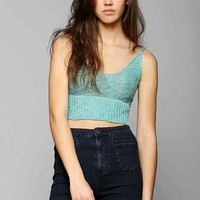 Staring At Stars Slubby Sweater Bra Top- Blue L