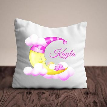 Birth Announcement - Personalized Pillow - Pillow Baby Decor - Nursery Decor - Baby announcement - New Mom Gift - Baby Stats Pillow - Gift