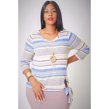 Striped, Waist Length Top Womens Plus Size Edgy Casual Clothing Plus Size Styles And Trends