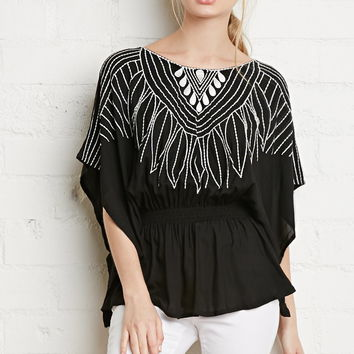 Southwestern Embroidered Top