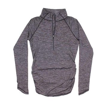 Women's Motivation Stripe 1/2 Zip in TNF Black Micro Stripe by The North Face
