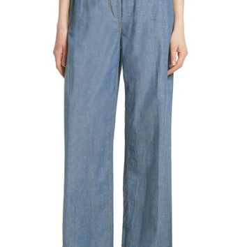 Elizabeth and James Anika Wide Leg Chambray Pants | Nordstrom