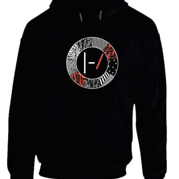 twenty one pilots blurryface logo hoodie from teehouses 21. Black Bedroom Furniture Sets. Home Design Ideas