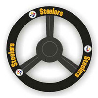 Pittsburgh Steelers NFL Leather Steering Wheel Cover