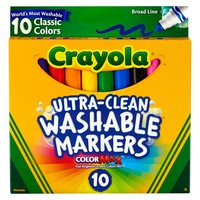 Crayola® Ultra-Clean Markers Broad Line Washable 10ct Classic