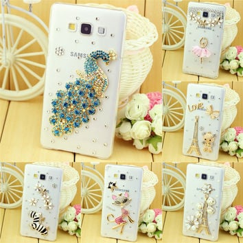 new  diamond rhinestone case cover for samsung galaxy A3 A300 2015 A3 A310 2016 A3 A320 2017 mobile phone case cover