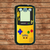 Samsung Galaxy S3 case--Pokemon GameBoy Color Yellow,in plastic hard case,black or white or clear color