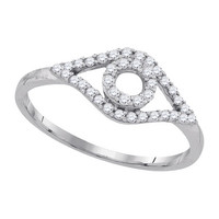 Diamond Fashion Ring in 10k White Gold 0.22 ctw