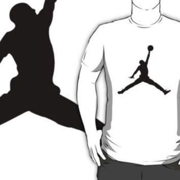 DCCKHD9 #ab air michael jordan black silhouette white t-shirt