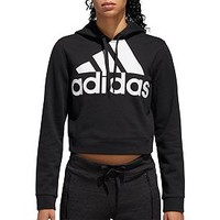 adidas Women's Cropped French Terry Hoodie | DICK'S Sporting GoodsProposition 65 warning iconProposition 65 warning icon