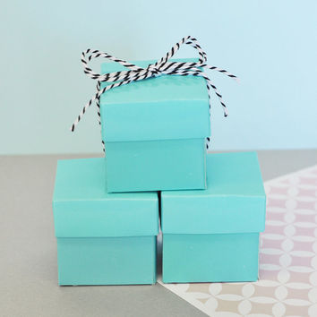 Favor Boxes Aqua Blue - Wedding Favors Birthday Party Favor Mini Box - DIY Wedding Bridal Shower Baby Shower Supplies